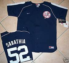 NEW NIKE NEW YORK YANKEES JERSEY SHIRT YOUTH SABATHIA L
