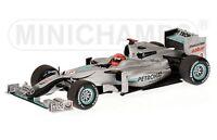 MINICHAMPS 100073 Mercedes GP Petronas F1 Showcar 2010 Michael Schumacher 1:18th