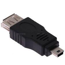 Adaptateur Mini USB 5 pin Mâle / USB A 2.0 Femelle convertisseur mini-B cable