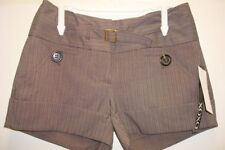 NWT XOXO Brown Shorts Sz0/0 Retails$44   Adorable!!
