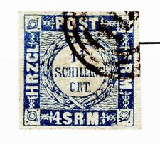 Germany Holstein Issue of 1864 1 1/4 Schillings Type 3 Used Scott's 17