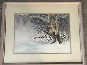 """Grace Zemlin Original Watercolor Painting Landscape, 14 1/2"""" x 10 1/2"""" (Image)"""