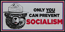 Wholesale Lot of 6 Only You Can Prevent Socialism White Decal Bumper Sticker