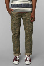 Levis Jeans Slim Straight Cargo Combat Camouflage Trousers Camo Army Green 30 31