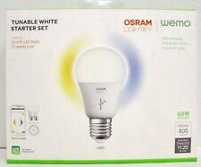 NEW WeMo F5Z0596 Osram Lightify Tunable White Starter Set link LED A19 control