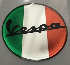 1pcs x Vespa Vintage Logo. Domed 3d Stickers/Décalques. Diameter 50 mm.