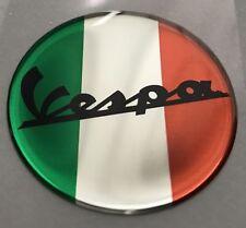 1 un. X 3D VESPA VINTAGE LOGO. abovedado Pegatinas/Calcomanías. diámetro 50mm.