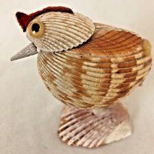 "Multi Tan 3"" Chicken Figurine Made From Sea Shells"