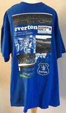 Bnwt Official Everton Football Club Blue Goodison Park L4 Print T Shirt Size XL