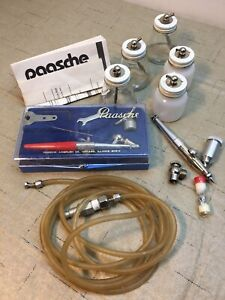 Lot Vintage Paasche Airbrushes, Hoses, Accessories . For Parts Only