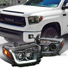 2014-2017 Toyota Tundra LED DRL Projector Headlights Head Lamps Black
