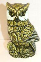 VINTAGE 5136 Rubens JAPAN GREEN OWL CERAMIC ART POTTERY PLANTER MCM