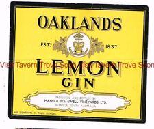 1940s AUSTRALIA Glenelg Hamilton's Ewell Oakland's Lemon Gin Label