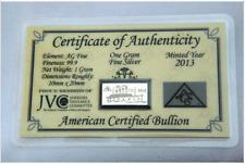 x5 ANNIVERSARY TITANIC INGOT W/ Certificate 1 Gram AG Bars 99.9 Fine SILVER =