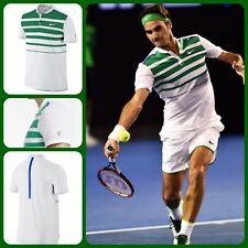 4B9 Nike RF Crew Polo Tennis Federer Australian Open size L Mens 728951-100