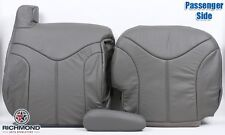 2002 GMC Yukon XL 1500 -Passenger Complete Replacement Leather Seat Covers Gray