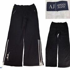 Armani Jeans Mens Black Tracksuit Bottoms Gym Trousers 100% Cotton