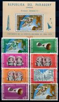 Paraguay 1966 Space Raumfahrt Weltraum 1503-1510 + Block 77 Postfrisch MNH