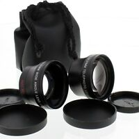 WIDE ANGLE + Telephoto 2X LENS FOR NIKON COOLPIX 5000 4500 995 990 950 cameras