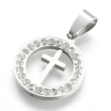 Cross Pendant Stainless Steel With Stainless Steel Chain