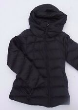 Womens Patagonia Hooded Goose Down Puffer Jacket Medium Black Insulated