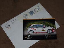 Fabian KREIM - original autogramm, 2014 Opel Adam R2, Karte/card 10x15 cm+cover