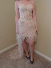 GIGI BY LA FEMME FORMAL DRESS WOMEN'S SZ 4 USED ONCE PROM DRESS DETAILED RUFFLE