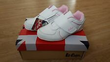 Girls Lee Cooper White Sport Shoes, size 10 Infant