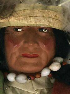 Skookum Male Doll Bully Good 4096 5 & 10 Antiques Seattle WA Mary Mcabay