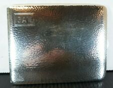 Art Deco Sterling Silver Cigarette Case Engraved Monogram 124.5g