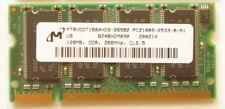 Laptop Memory 128MB   MT8VDDT1664HDG-265B2  PC2100S-2533-0-A0 DDR 266 CL2.5