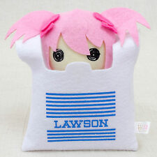 Puella Magi Madoka Magica MADOKA  in Lawson Bag Mini Plush Doll JAPAN ANIME