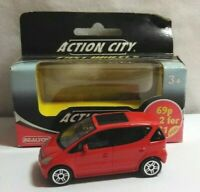 REALTOY ACTION CITY 1:56 DIECAST MERCEDES-BENZ A-CLASS - RED - #18242 - BOXED