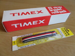1x Vintage TIMEX Nylon 'BOATER' Watch Strap - New Old Stock - 12.7mm - REF17