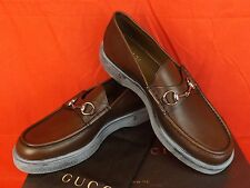 7cf11698059 Gucci Rafer Green Grass Waxed Leather Silver Horsebit Loafers 9 10