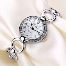 Gold Fashion Women Crystal Luxury Steel Wrist Designer Quartz Casual Wrist Watch