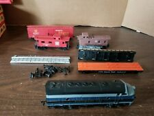 HO GAUGE TRAIN Box Car Lot Baltimore Ohio ATSF Santa Fe Pennsylvania Trailer