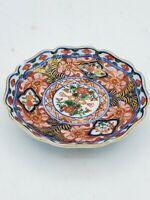 Antique Vintage Miniature Imari Dish /  Bowl / Plate 3.5'' W