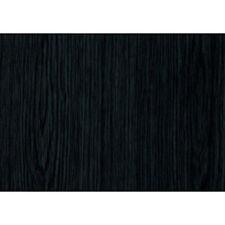 Fablon Sticky Back Plastic 67.5cmx2m Roll Black Ash woodgrain For Covering Doors
