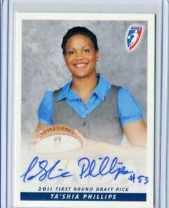 Ta'shia Phillips 2011 WNBA Rittenhouse Archive Certified On Card Autograph Auto