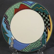 Christopher Stuart Rave HK100 Dinner Plate Optima Multicolor Rim (M5)