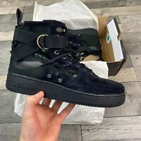NIKE SF AF1 MID BLACK TRAINERS SHOES SIZES UK8 US9 EUR42.5 917753-008