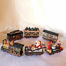 6 Car Christmas Santa Reindeer Train JC PENNEY Home Towne Express 1998