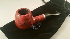 Small Dinky Italian BRIAR SMOKING PIPE Brown Straight Stem 9mm FILTER - D