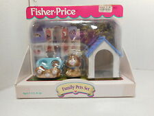 NEW Fisher Price Loving Family Dollhouse FAMILY PETS Dog Puppies Doghouse 2000