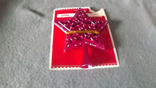 Holiday Time Purple Star Mini Tree Topper Nip