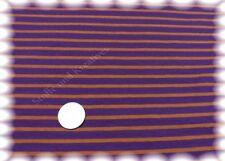 Campan Baumwoll Jersey Hilco lila orange Streifenjersey 50 cm Streifenstoff