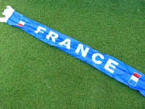 Echarpe scarf satin FRANCE FFF signée signed ANDRE PIERRE GIGNAC ultra foot