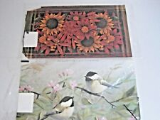 Magnetic Mailbox Wraps Covers Set of 2 Standard Size Birds Sunflowers