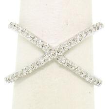 NUEVO 14k ORO BLANCO .50ctw 45 Diamante Brillante Redondo Simple X EX Cruz